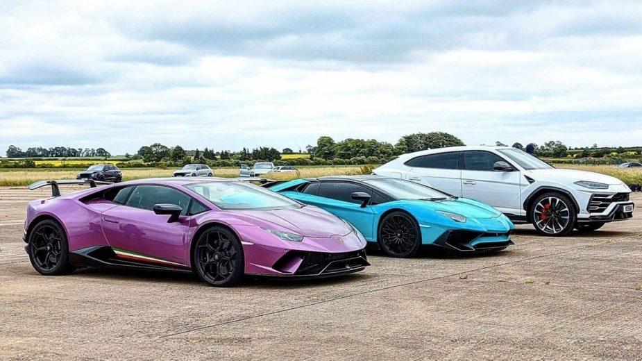 Drag race Lamborghini