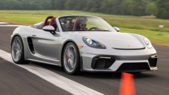 Chloe Chambers recorde slalom Porsche 718 Spyder