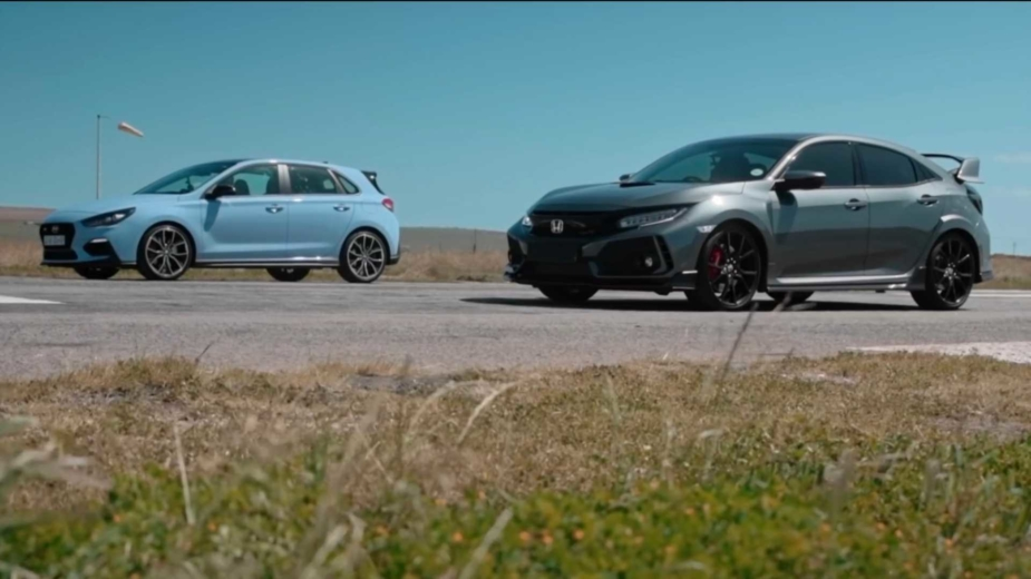 Drag race Honda Civic Type R Hyundai i30 N