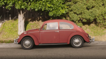 VW Carocha tinta queimada