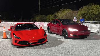 Ferrari 488 GTB vs Tesla Model S Performance