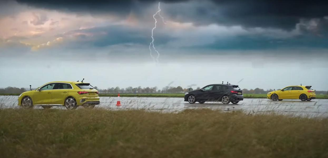 Drag race Audi S3, BMW M135I, MERCEDES-AMG A35