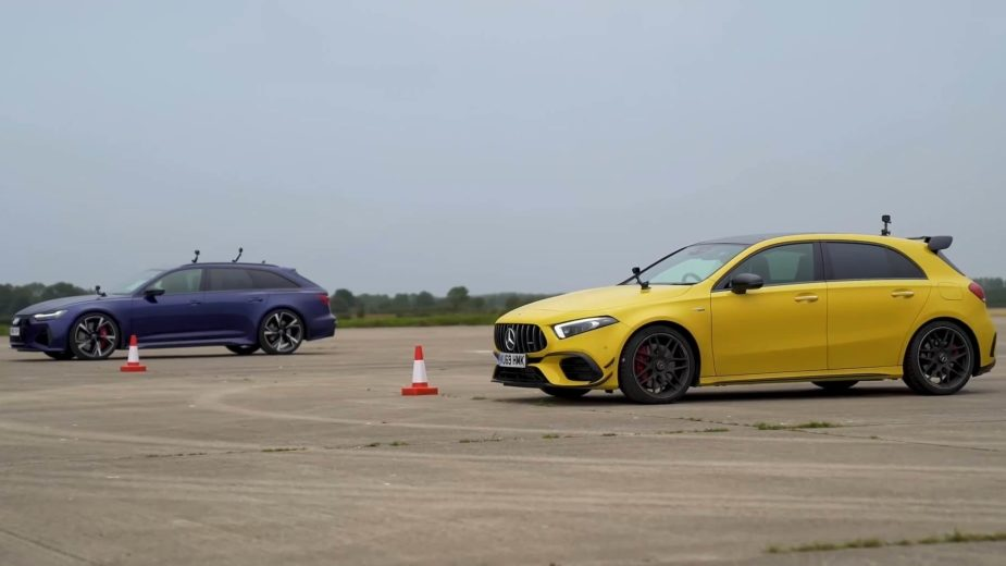 Drag race Mercedes-AMG A 45 S vs Audi RS 6 Avant