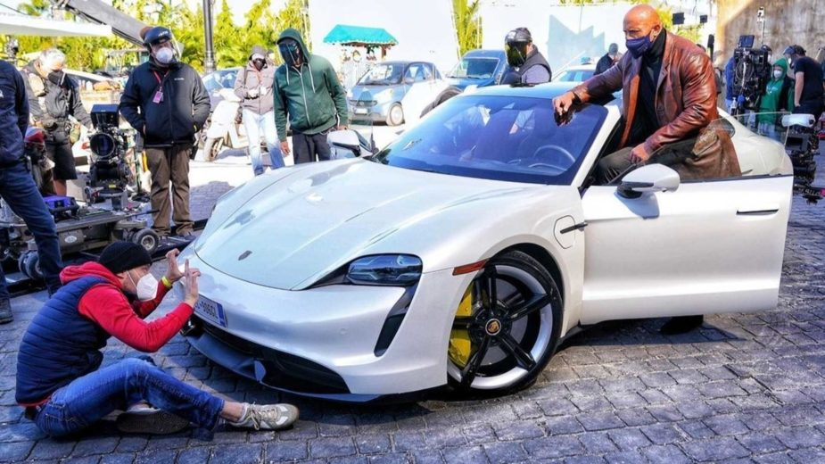 Dwayne Johnson Porsche Taycan