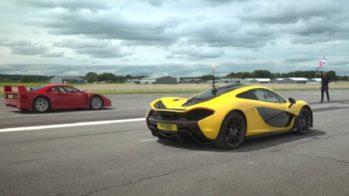 Ferrari F40 vs McLaren P1