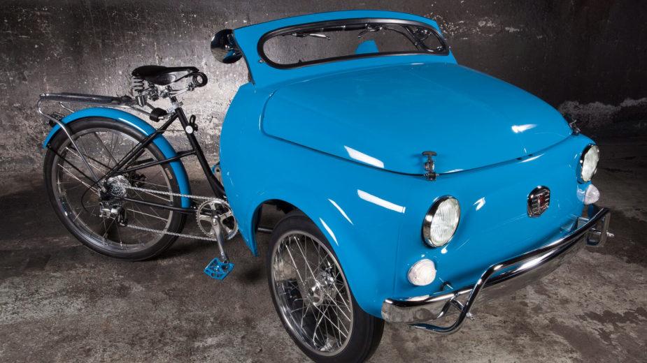 Fiat 500 bicicleta