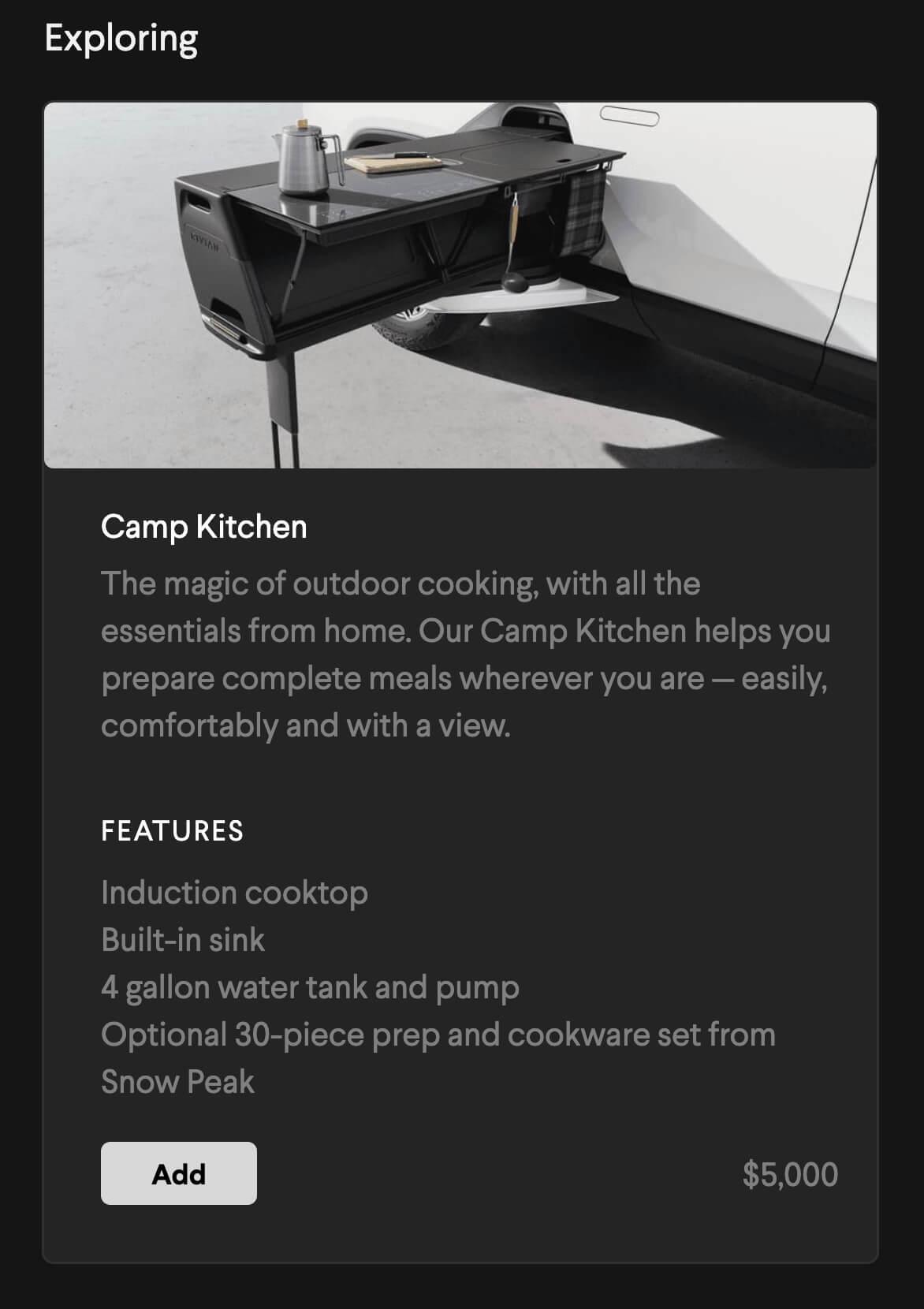 Cozinha Rivian R1t