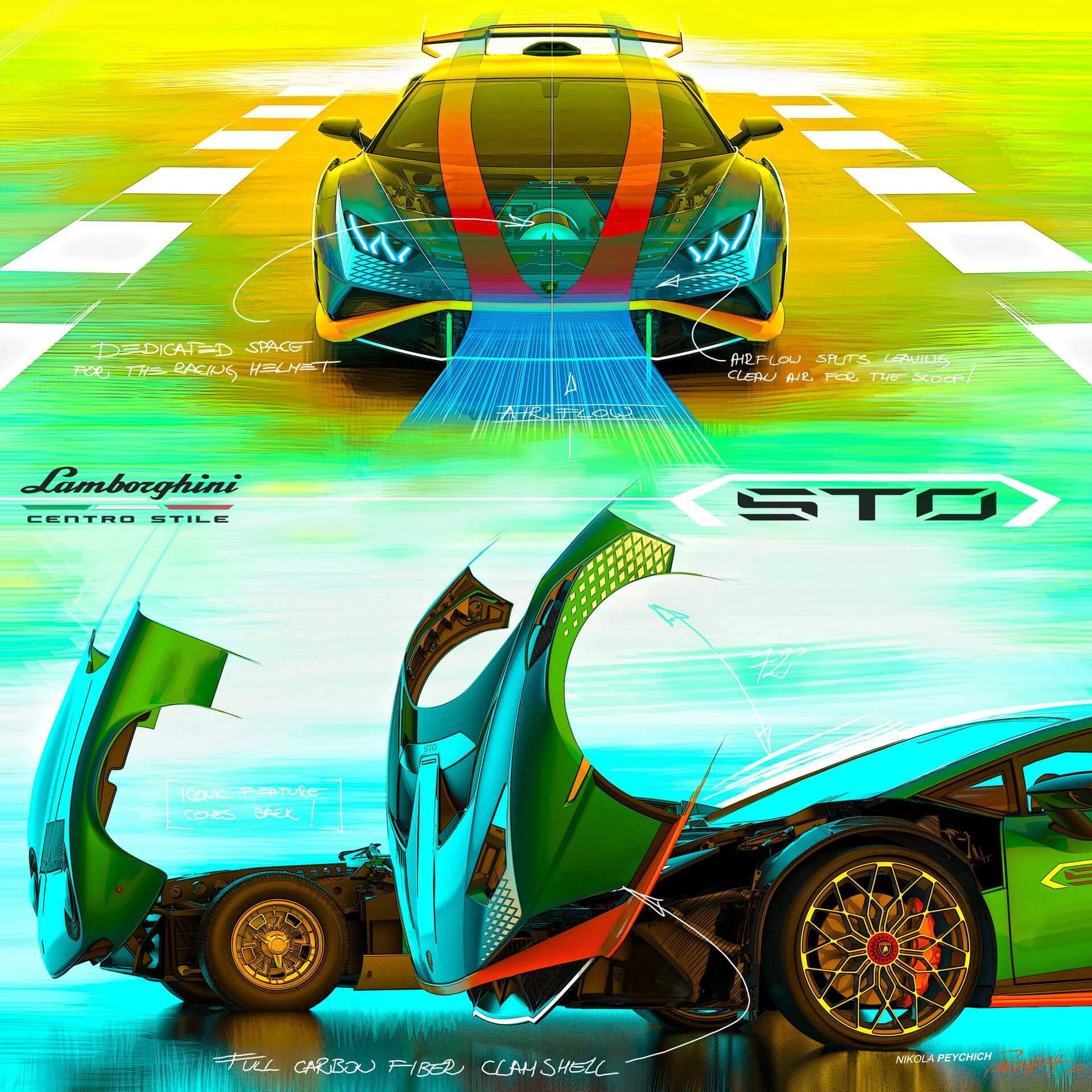 Lamborghini cofango