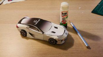 Lexus LFA origami