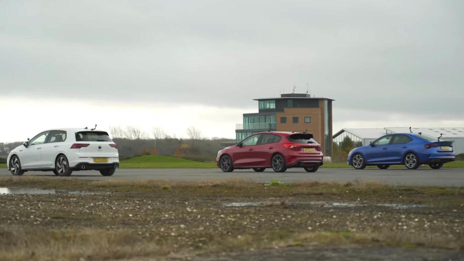 Volkswagen Golf GTI VS Ford FOcus ST VS Skoda OCtavia RS