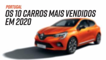 Top 10 carros mais vendidos Portugal 2020