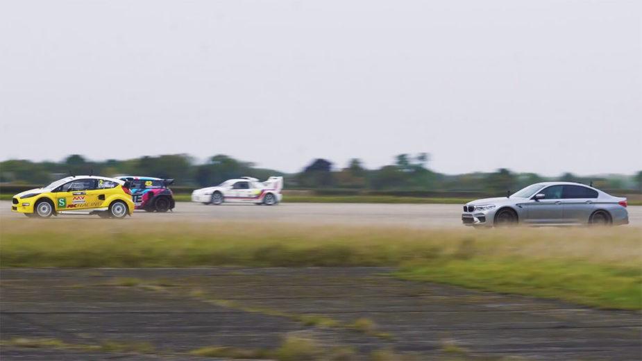 BMW M5 vs Ford Fiesta vs MINI Cooper vs Ford RS200