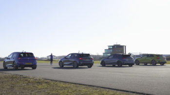 Drag race Golf R contra Audi S3, A35 AMG e BMW M135i