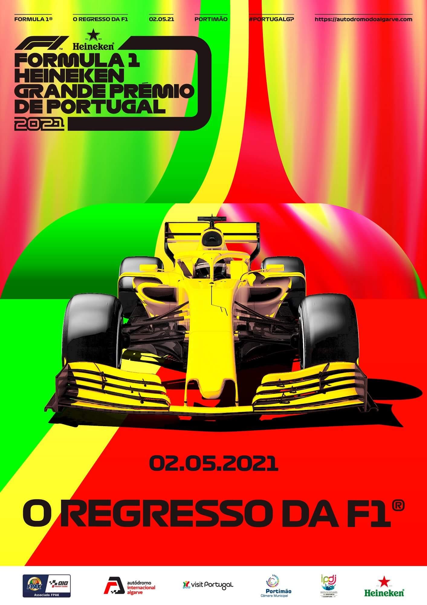 F1 GP de Portugal poster