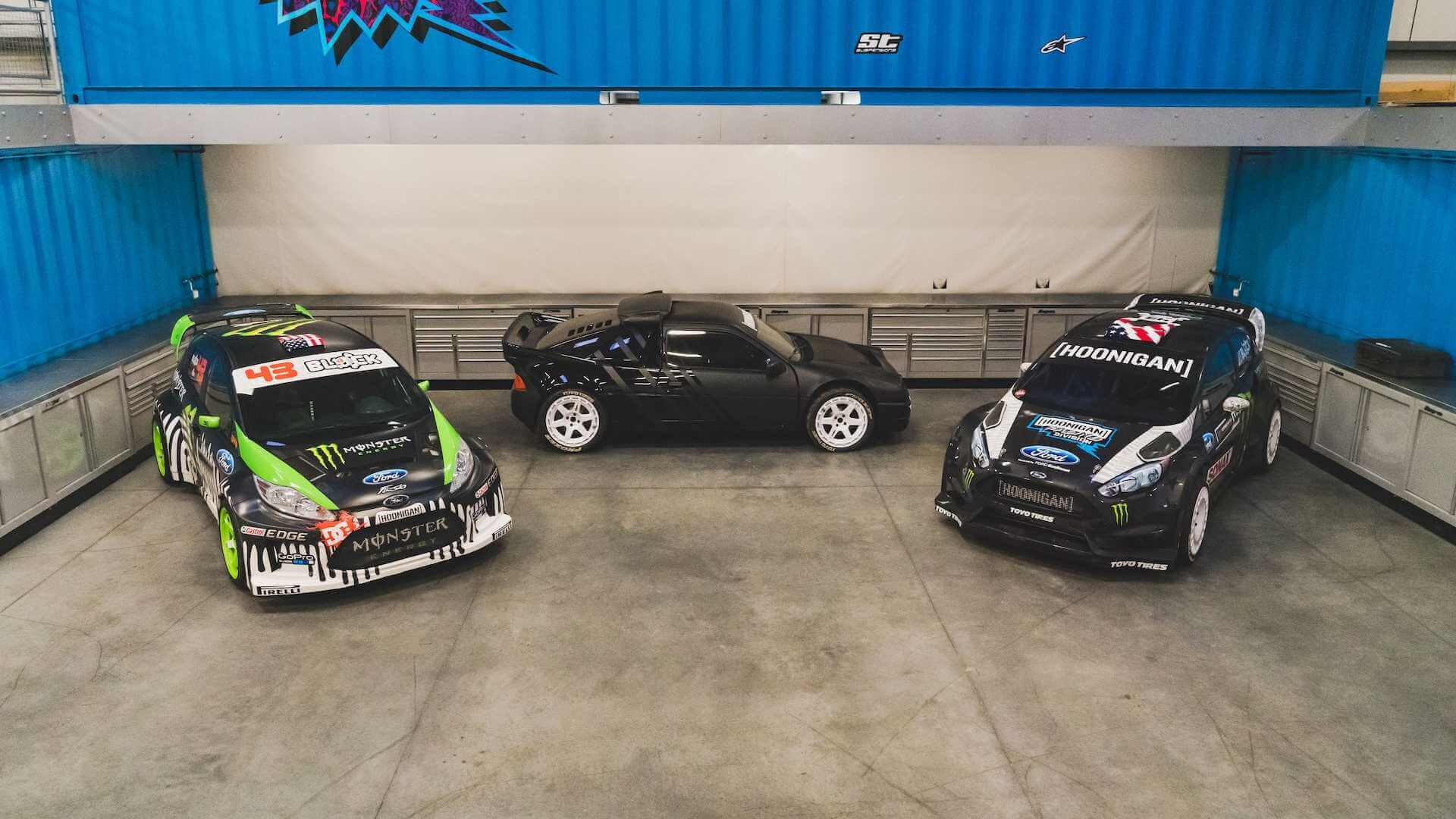 """Ford Fiesta ST """"GYM3"""", Ford Fiesta ST """"RX43"""" e Ford RS200"""