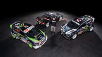 Ken Block com os 3 Ford que colocou à venda