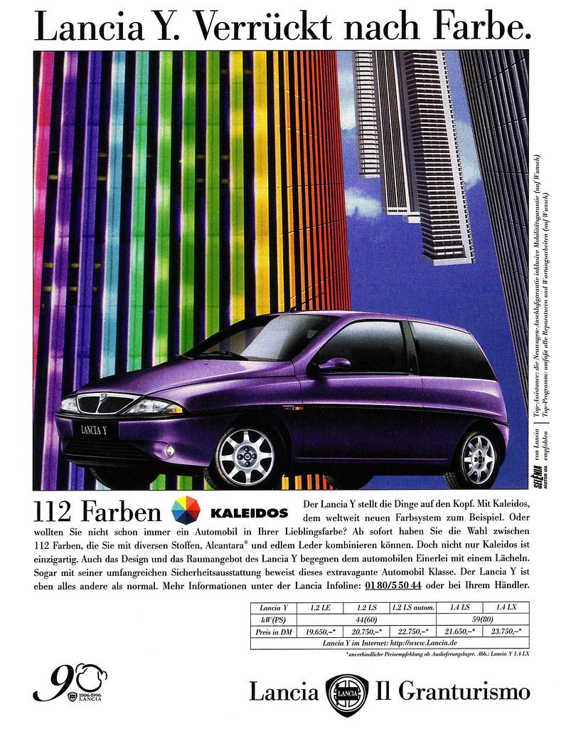 Anúncio imprensa Lancia Y Kaleidos
