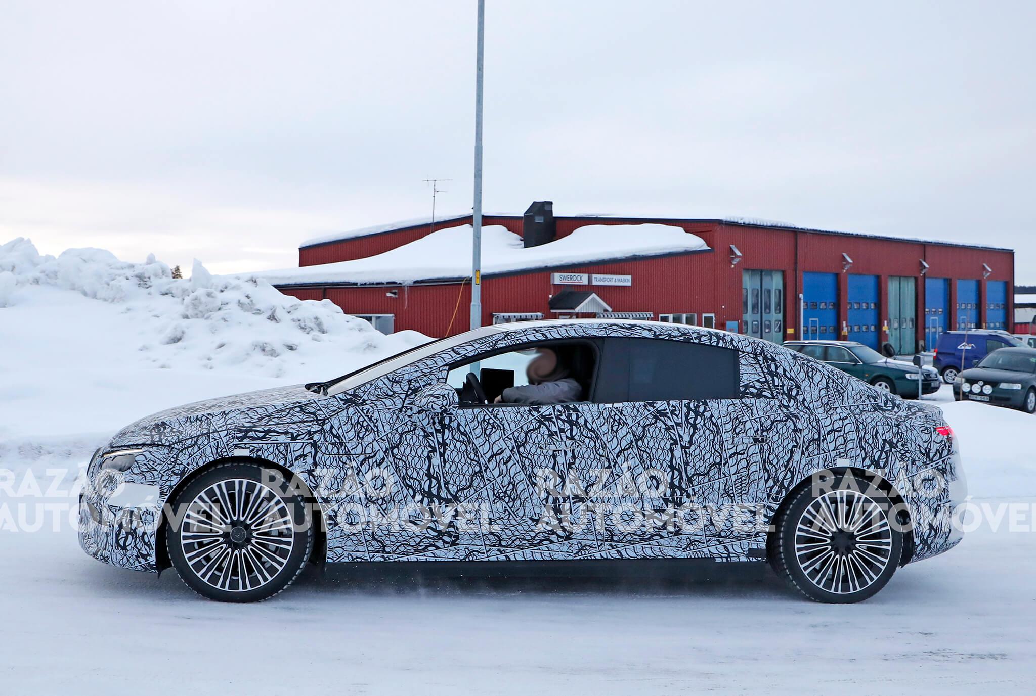 Mercedes-Benz EQE fotos espia