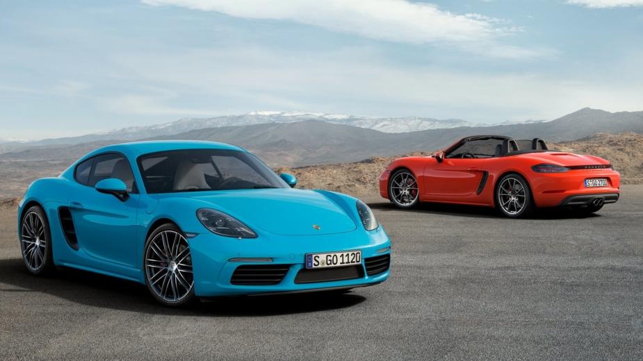 Porsche 718 Cayman e Porsche 718 Boxster