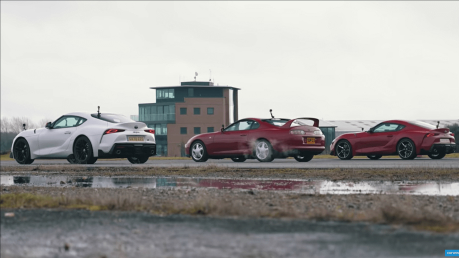 Toyota Supra drag race