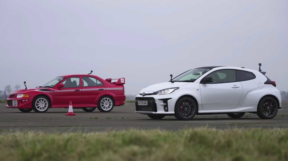 Toyota GR Yaris contra Mitsubishi Evolution VI Tommi Makinen