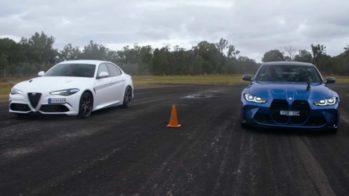 Drag race Alfa Romeo Giulia Quadrifoglio e BMW M3 Competition