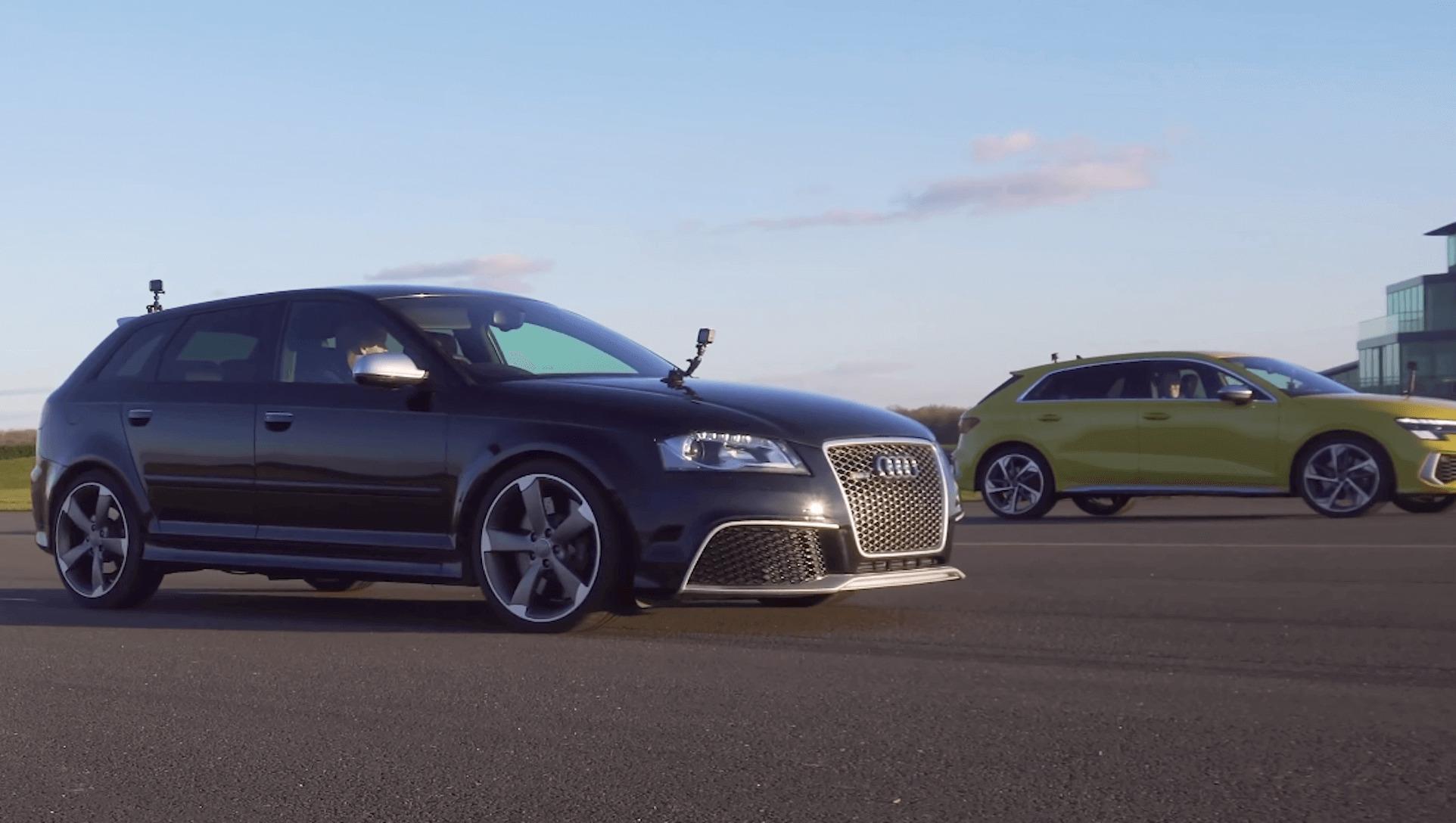 Drag race - Audi S3 Vs Audi RS3 1-2