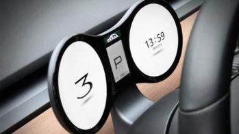 Painel de instrumentos digital Tesla