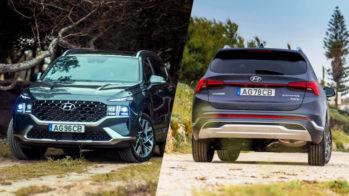 Comparativo Hyundai Santa Fe HEV e Hyundai Santa Fe HEV 2.2 crdi