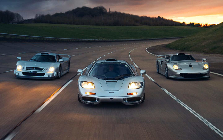 Mercedes-Benz CLK GTR, McLaren F1, Porsche 911 Straßenversion