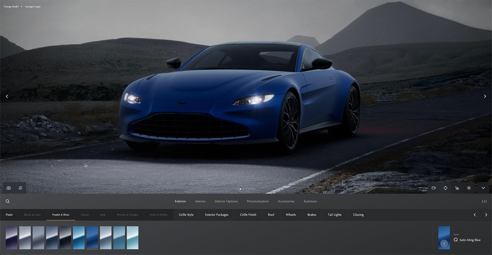 Configurador Aston Martin