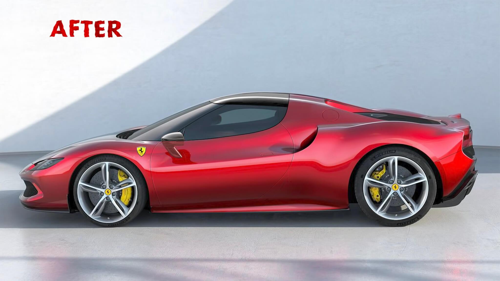 Frank Stephenson redesign Ferrari 296 GTB