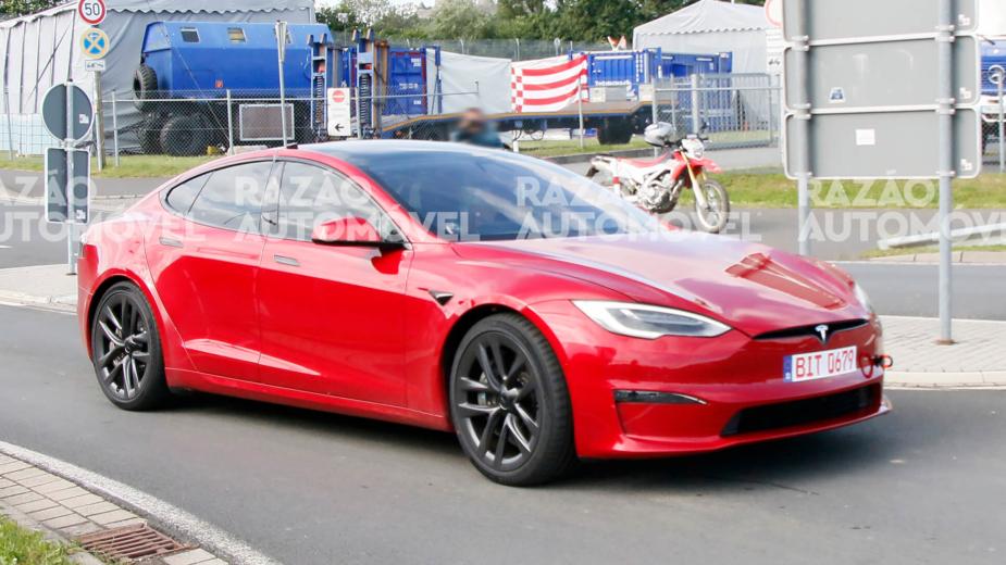 Tesla Model S Plaid fotos-espia