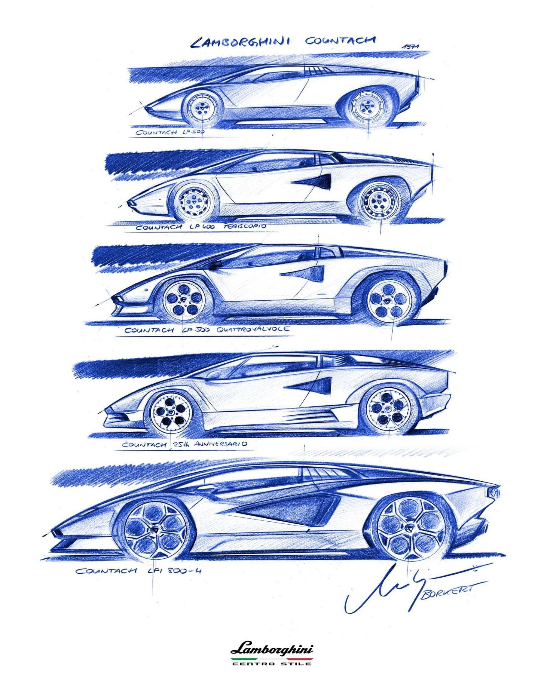 Lamborghini Countach evolução