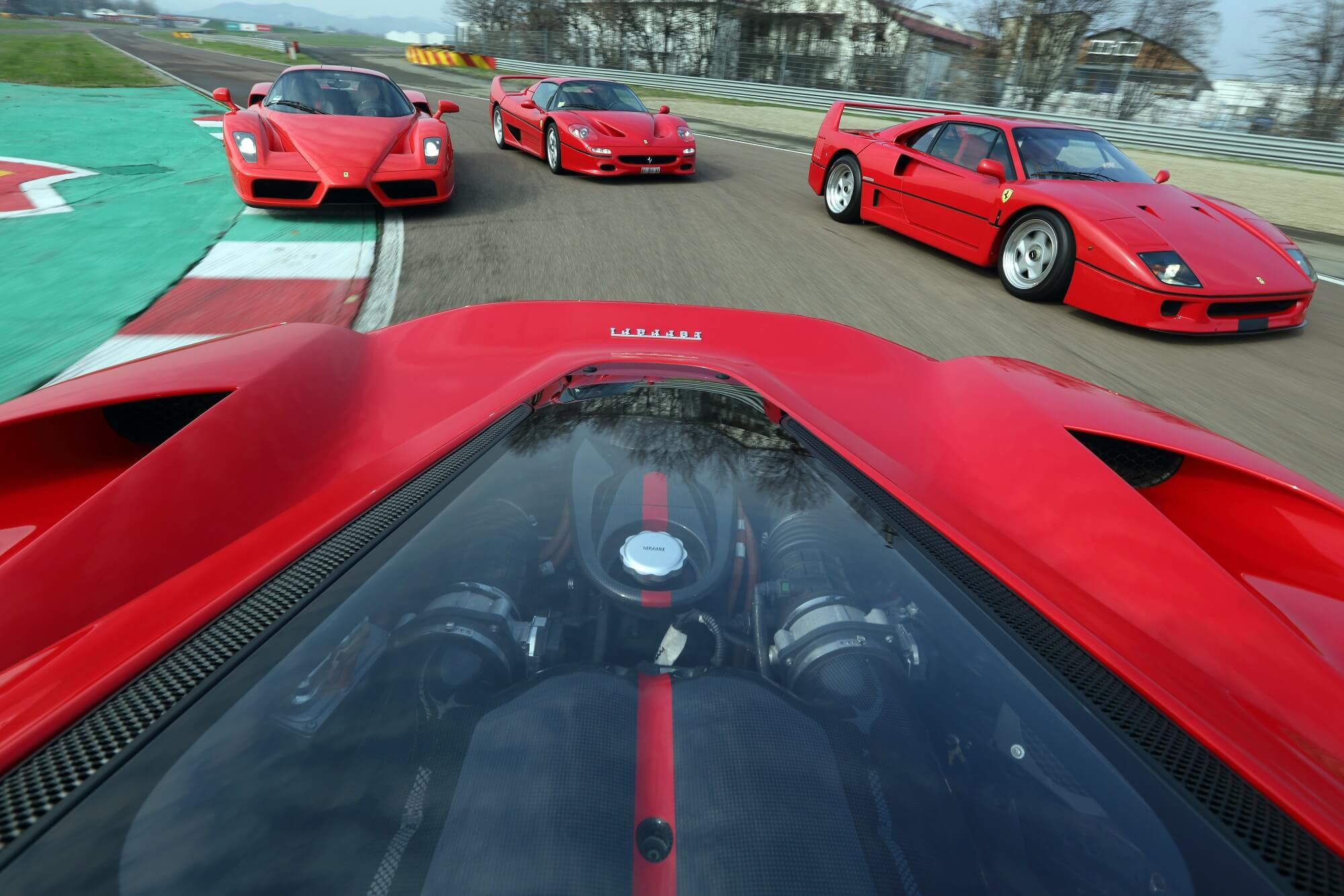 Ferrari F40, F50 e Enzo