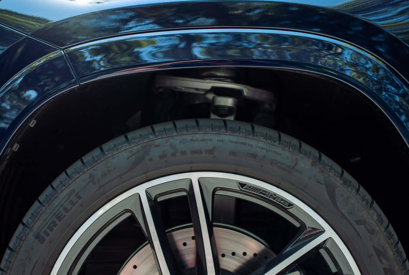 Suspensão pneumática do GLS no seu modo mais alto