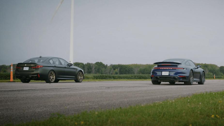 BMW M5 Cs vs porsche 911 Turbo