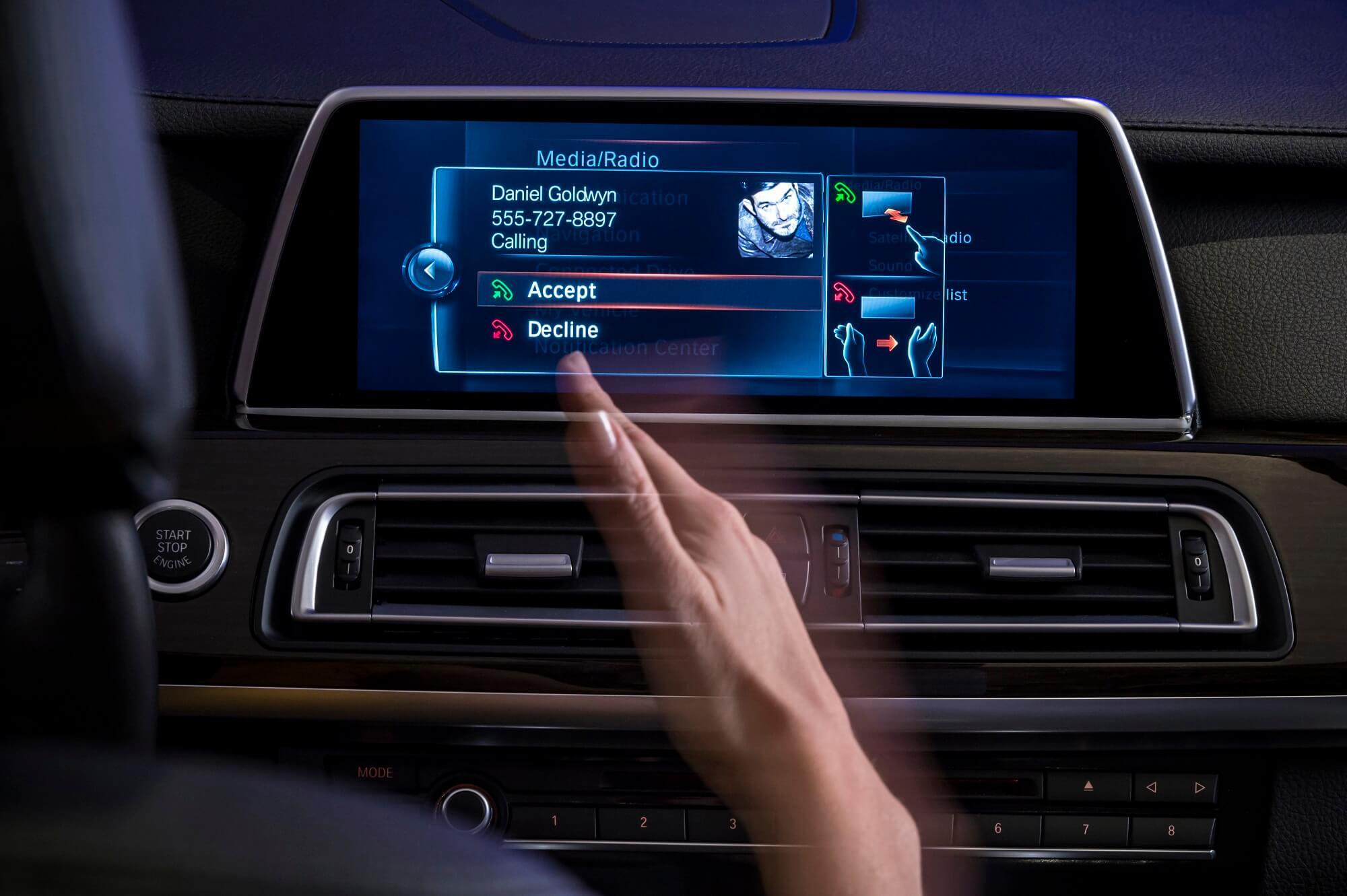 Ecrã controlo por gestos